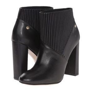 Calvin Klein Klara Black Leather Ankle Booties 7M